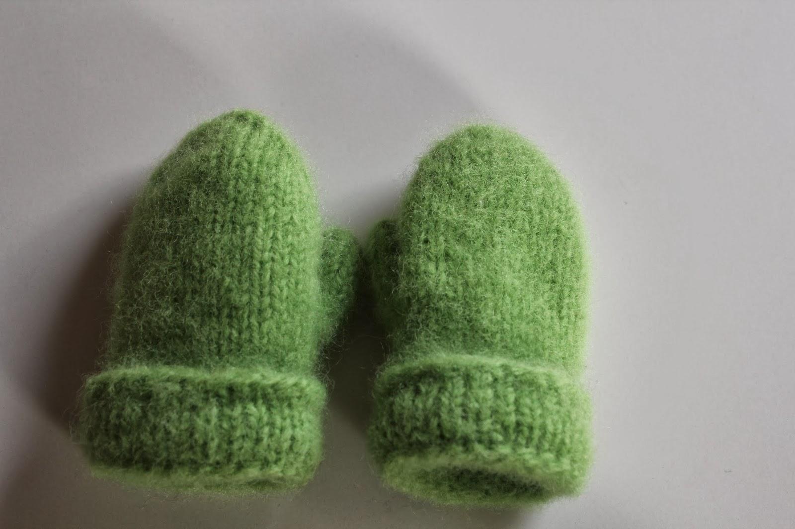 Eplegrønne tova barnevotter