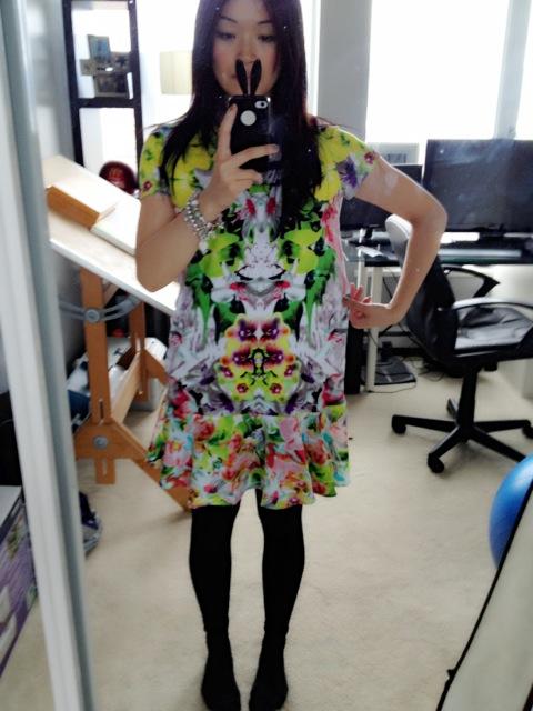 Prabal Gurung for Target shift dress in first date print, Spring time print dress, DIY