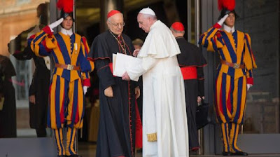 Pope Francis and Cardinal Baldisseri