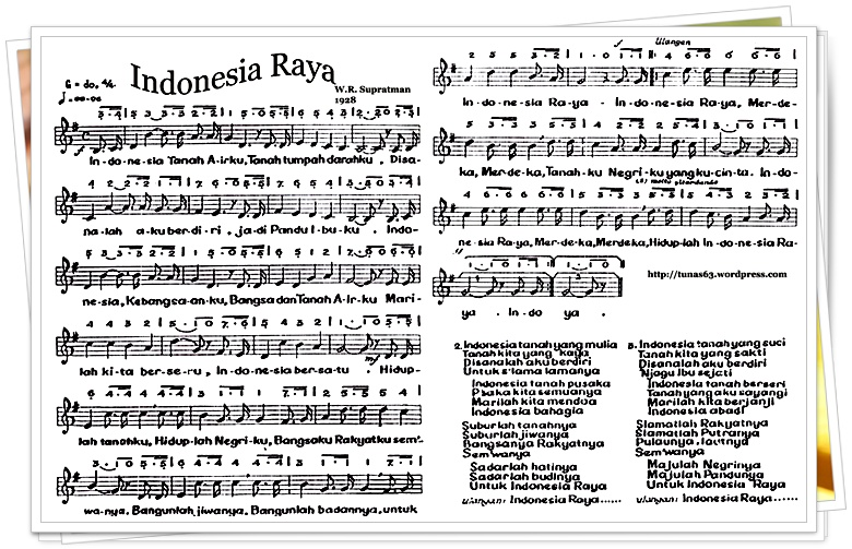 Not Lagu Indonesia Raya