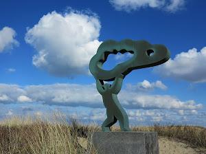 """Sculptuur """"Wind"""" van kunstenaar Steef Roothaan"""