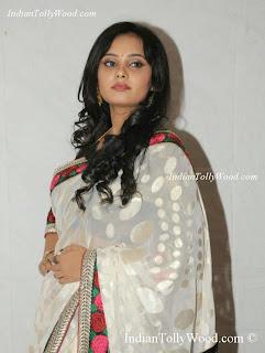 Telugu Actress Aarushi Photos in White Saree