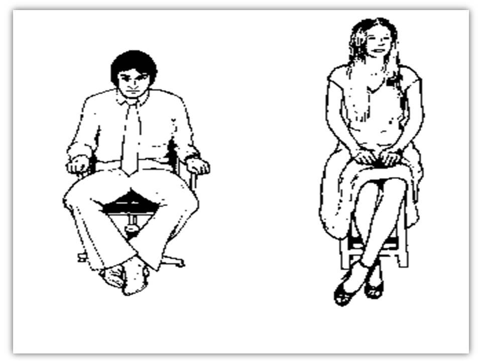 Female body language feet