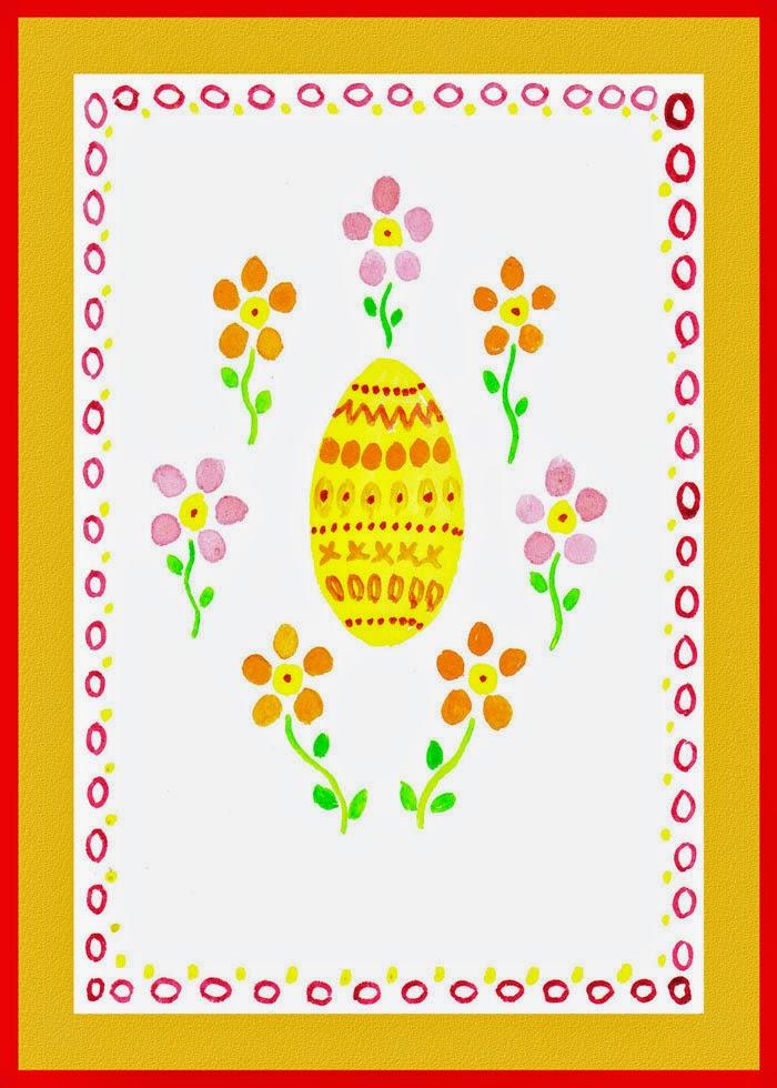 watercolor festive egg
