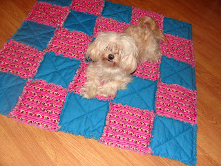 learn quilting: rag quilt tutorial