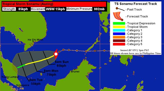 Ribut Tropika Sonamu Akan Melanda Malaysia?