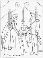 Gambar Mewarnai Pesta Pernikahan Cinderella