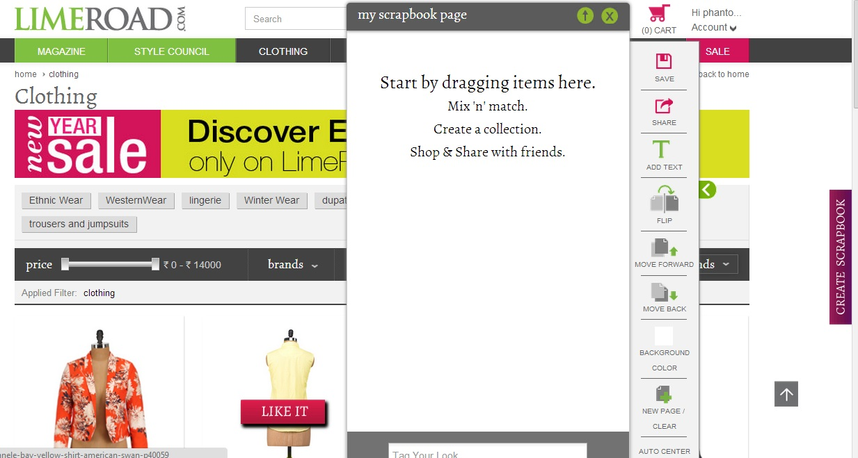 How to create scrapbook on limeroad - Indulgent