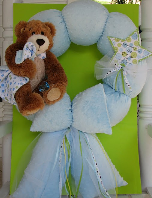 6. Custom Blue Teddy Bear to Match Bedding