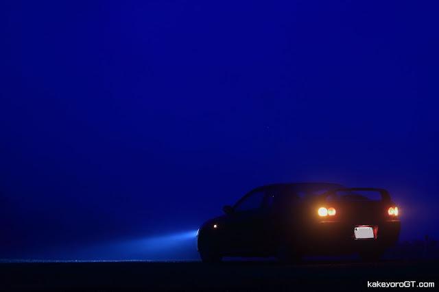 Toyota Corolla Levin AE111, usportowione samochody, japońskie, nocą