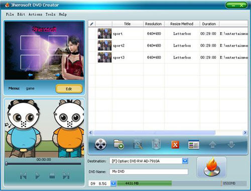3herosoft dvd creator 4 2 2 build 1213