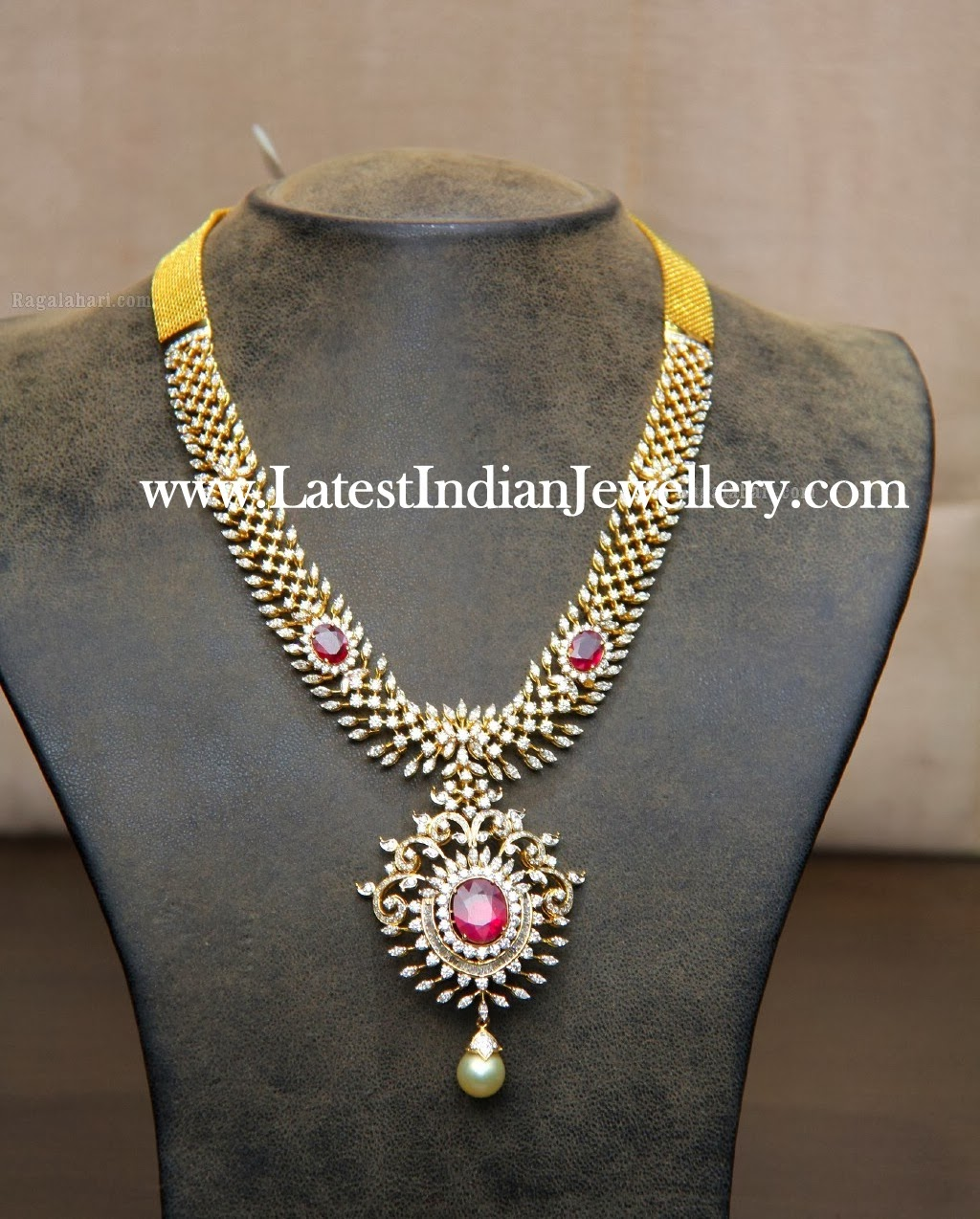 of necklace ruby jewellery american set emerald diamond kundan indian and online