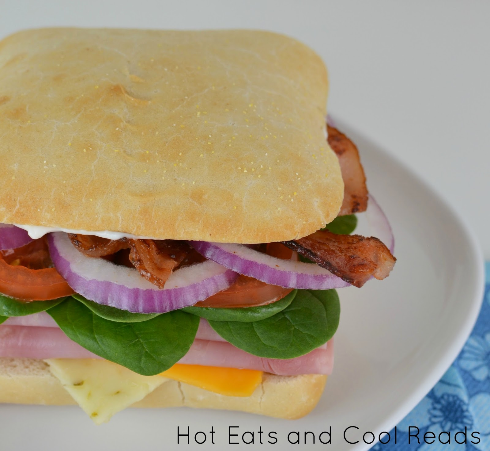 Classic ham sandwich loaded with tons of great ingredients! Perfect weekday lunch! Loaded Ham Sandwich from Hot Eats and Cool Reads!