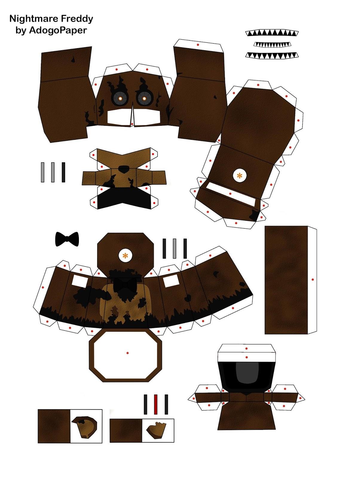 Как сделать из бумаги маска фредди