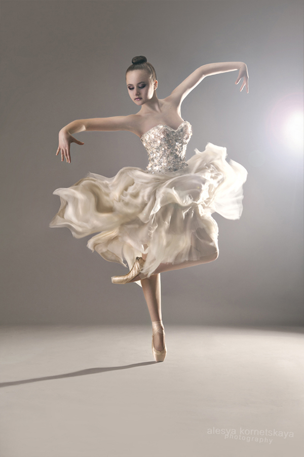 ballerina in motion en pointe