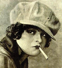 Clara Bow Smoking Cigarettes