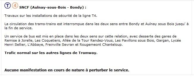 La 4G bloque la ligne 4 du tramway parisien