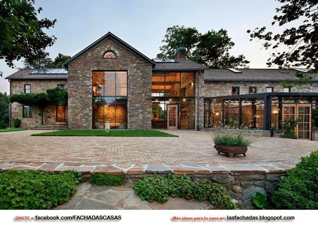 Fachadas de piedras casas de piedras fachadas de casas y for Casas modernas acogedoras