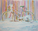 """Abandoned Girlie Bike"";Watercolor. Click on to see more of my art..."
