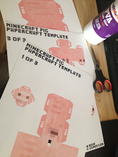 minecraft papercraft printable template cutouts