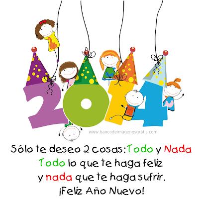 Postales de Año Nuevo 2014 con mensajes