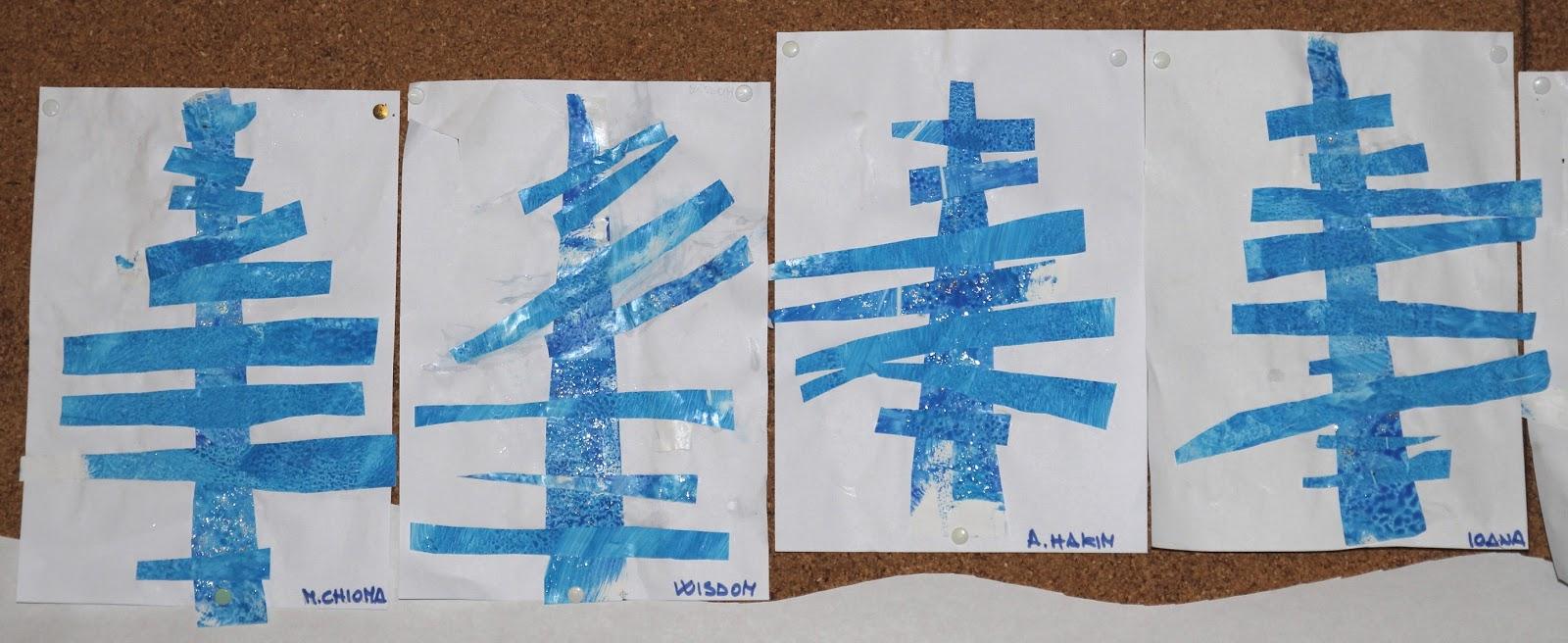 Alberi invernali scuola dell 39 infanzia piaget for Addobbi inverno scuola dell infanzia
