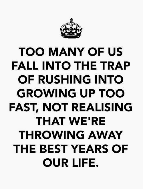 """growing up too fast They grow up too fast  it's us we're growing old too fast i keep telling my daughters,""""enjoy your kids neither of you will have another chance."""