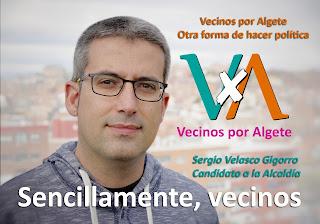 Carteles electorales de Vecinos por Algete