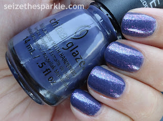 Pure Ice Iris over China Glaze History of the World