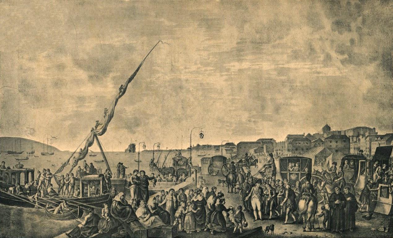 fuite de la famille royale portugaise pour le bresil 1807