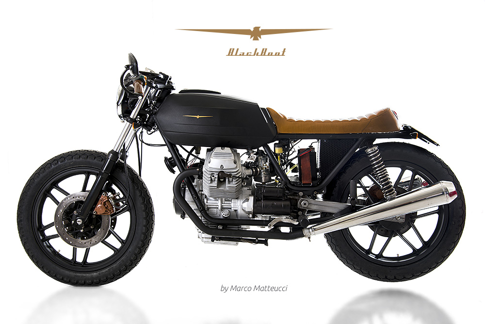 moto guzzi v35 black boot marco matteucci way2speed. Black Bedroom Furniture Sets. Home Design Ideas