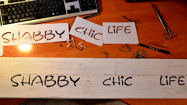 targa in legno shabby chic