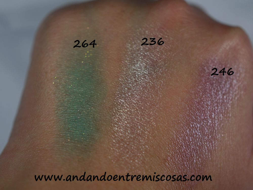 Sombras Kiko swatches