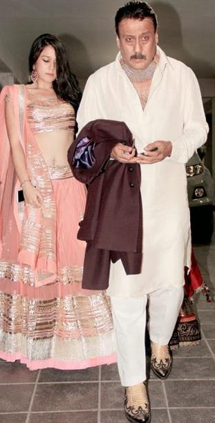 Krishna Shroff with Jackie Shroff