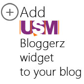 Add USM Bloggerz widget to your blog