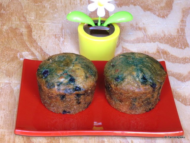 Eggless Blueberry Muffins