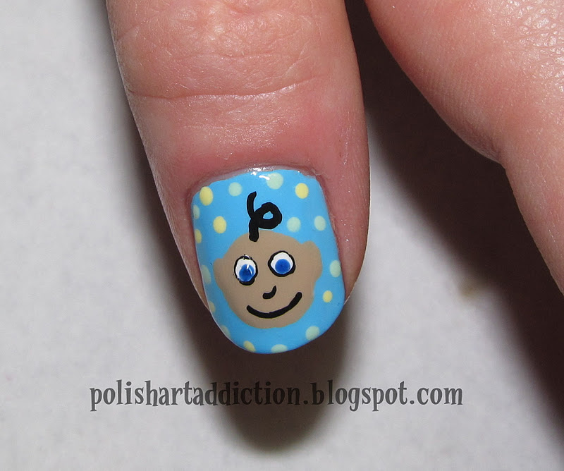 polish art addict baby shower nails on kim