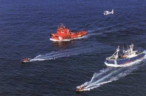"""Barcos y """"Pesca 1"""" en 1990"""