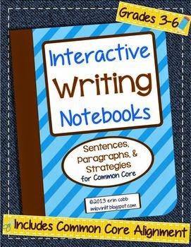 http://www.teacherspayteachers.com/Product/Interactive-Writing-Notebooks-Sentences-Paragraphs-for-Common-Core-3-8-878678