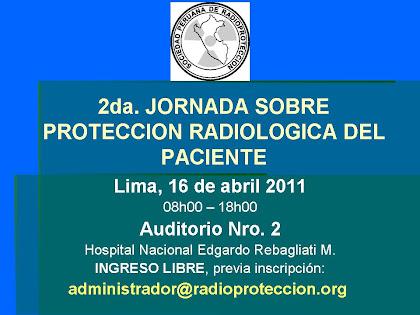 2da. Jornada sobre Protección Radiológica del Paciente - 16 de abril de 08h00 a 18h00