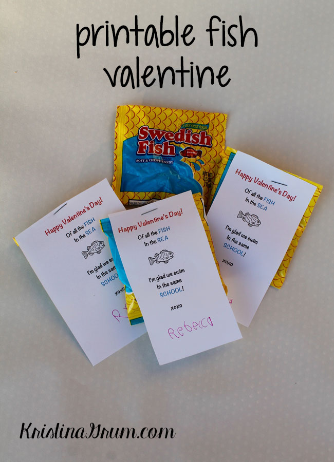 Click HERE To Download The Printable Fish Valentine.