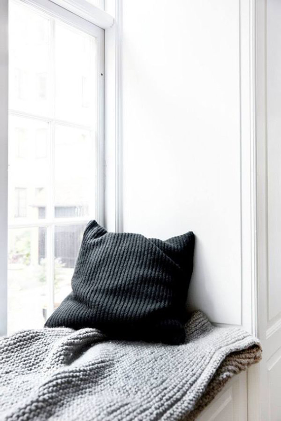 Cozy window seating nook | Norm Architects