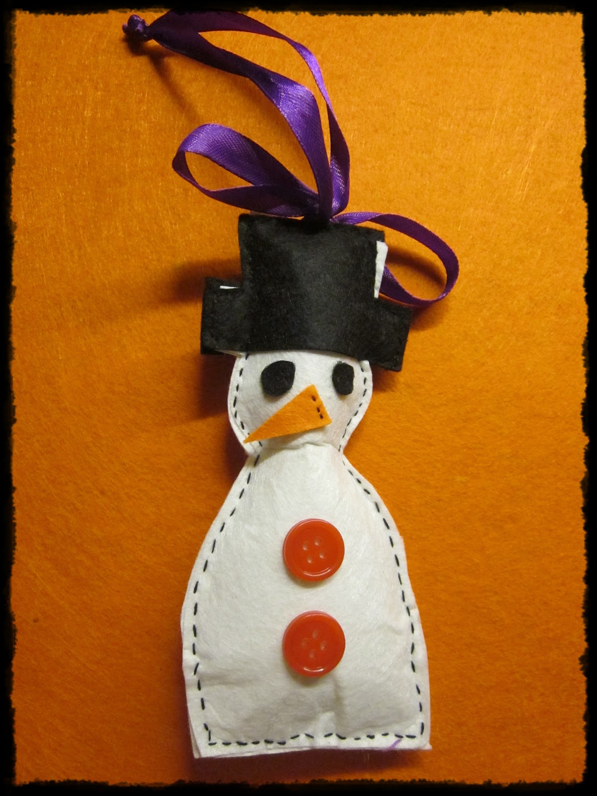 How to make felt christmas tree decorations a snowman