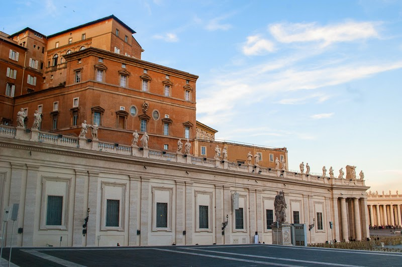 architecture of the walls of the vatican