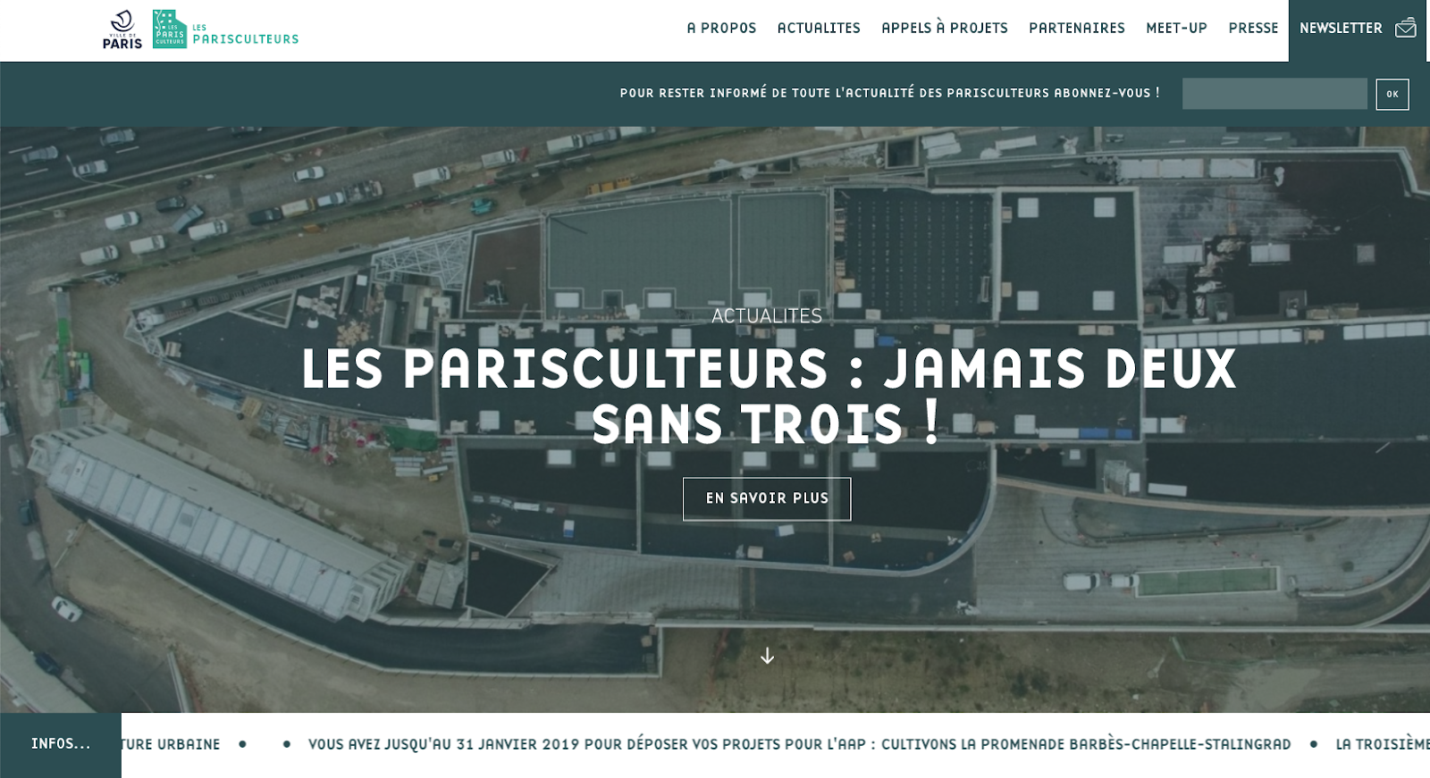 Newsletter Parisculteurs