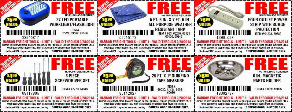 Harbor Freight Tools Free Shipping Policy. Free shipping isn't available at this online store. However, a flat rate of shipping includes FREE insurance and handling. Harbor Freight Tools Return Policy. The store has a day return policy. You have the choice of either a full refund or a replacement of the item.