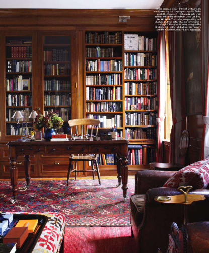 Mahogany Home Library Office: Splendid Sass: SHEILA BRIDGES