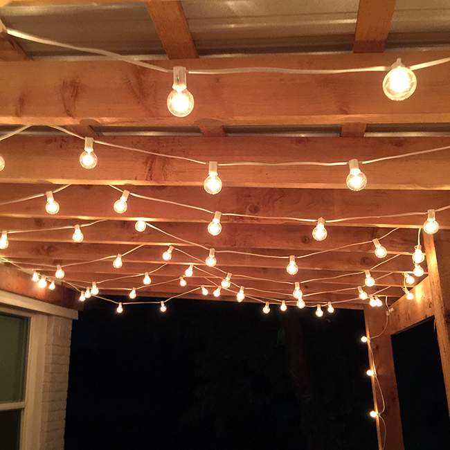 The best outdoor patio string lights patio reveal for Balcony lights