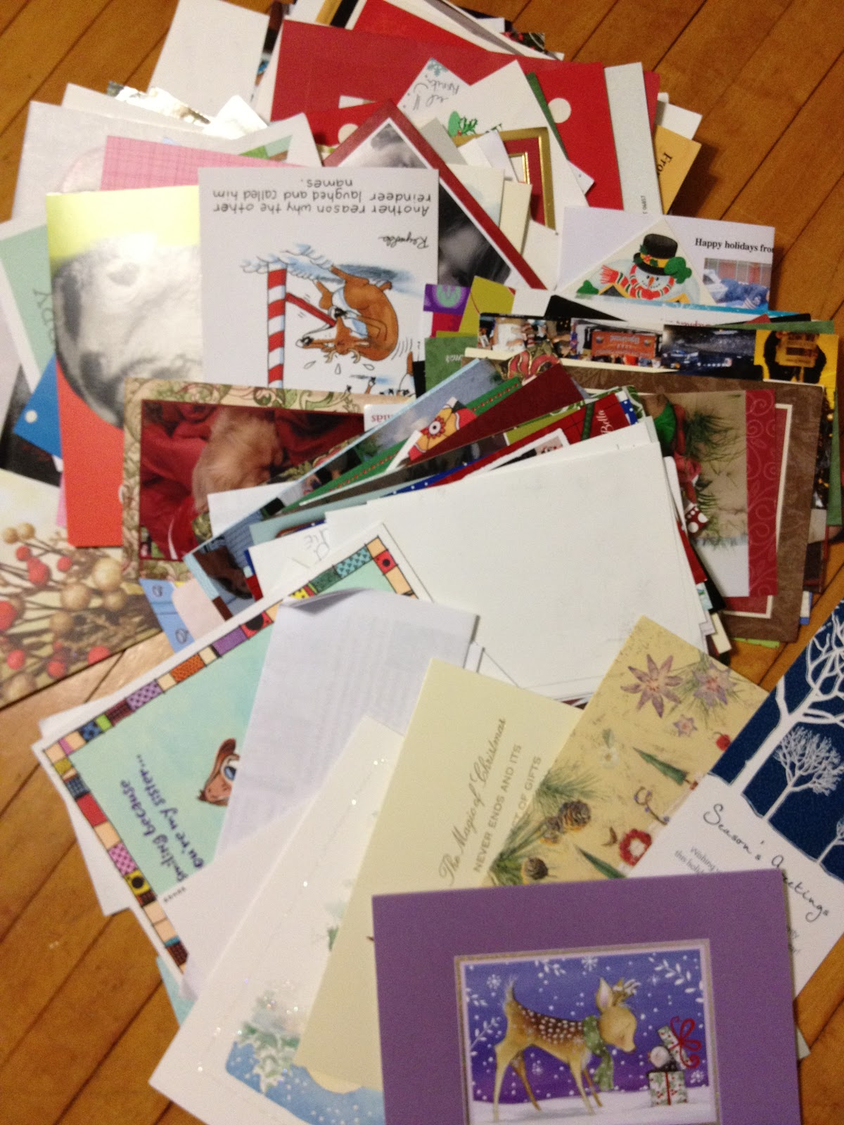Natalie Rompella: What to do with Your Old Christmas Cards--Reuse ...