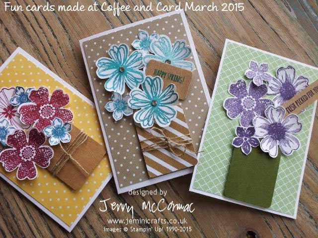 Coffee and Card samples March 2015 Jemini Crafts